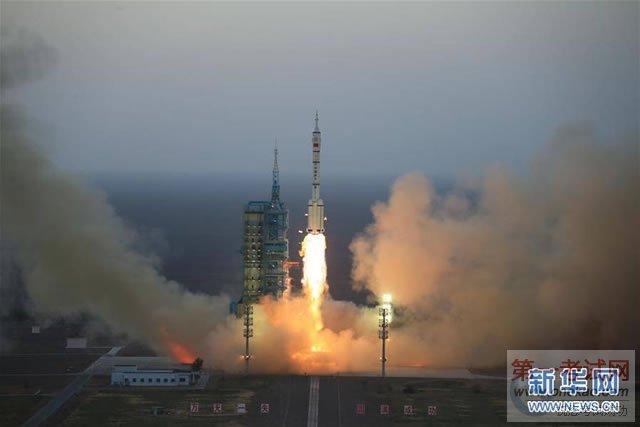 长征二号f遥十一运载火箭在酒泉卫星发射中心成功