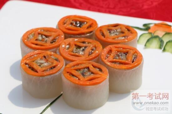因为食品雕刻,冷拼技能作为宴席制作的辅助技能,不但在造型上增加菜品
