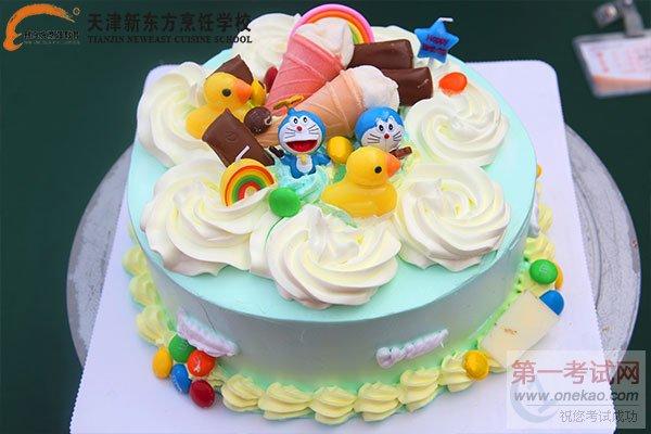 西点同学比赛作品展示-2016年天津新东方烹饪蛋糕DIY比赛多彩多姿